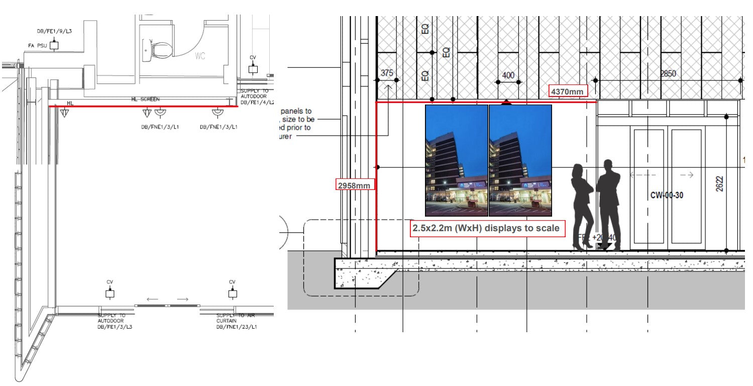 Schematic showing option 2 in situ in customers location