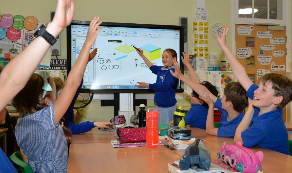 Interactive in a classroom