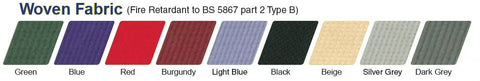 Blazemaster woven fabric colour-chart