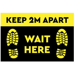 Floor Sticker - Keep 2m Apart