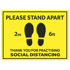 Floor Sticker - Please Stand Apart