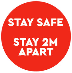 Stay safe sticker
