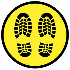 Social distancing feet sticker