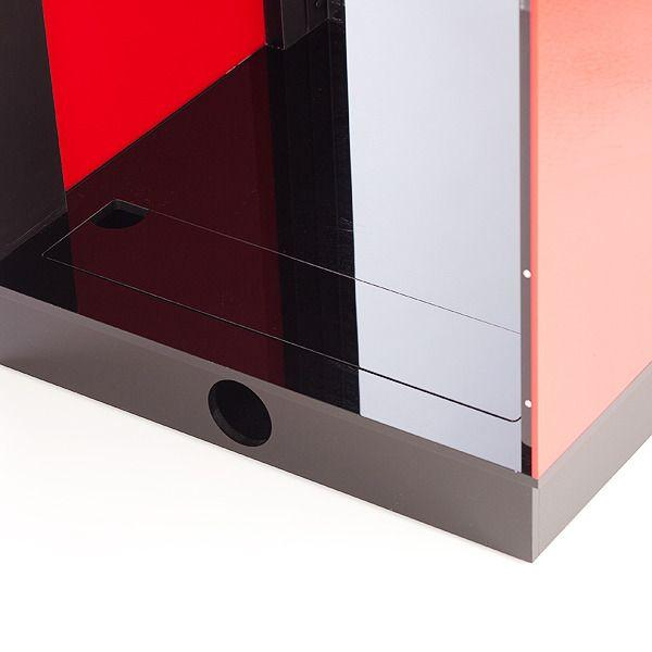 Acrylic AV Cabinet 18U close up