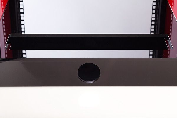 Acrylic AV Cabinet 18U close up base