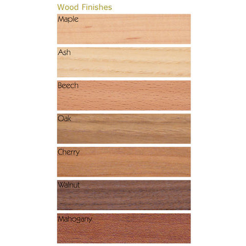 AV Credenzas wood colour chart