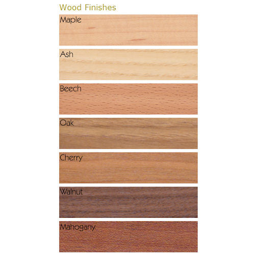Wood option colour chart