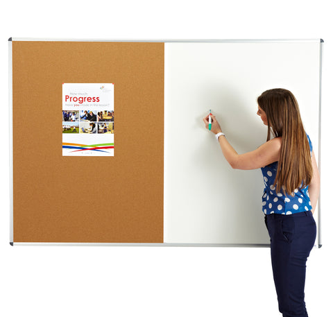 Combination noticeboard - Cork / Whiteboard