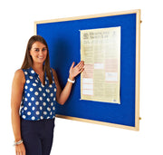 Eco Wood Framed Felt Noticeboard (Blue)