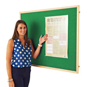 Eco Wood Framed Felt Noticeboard (Green)