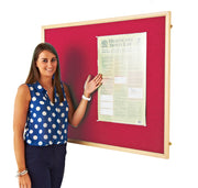 Eco Wood Framed Felt Noticeboard (Red)
