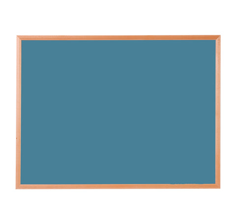 Hardwood Framed Sundeala Noticeboard in Oak (Blue)