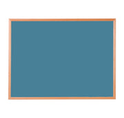 Hardwood Framed Sundeala Noticeboard in Beech (Blue)
