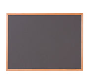 Hardwood Framed Sundeala Noticeboard in Oak (Charcoal)