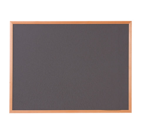 Hardwood Framed Sundeala Noticeboard in Beech (Charcoal)