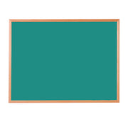 Hardwood Framed Sundeala Noticeboard in Beech (Green)