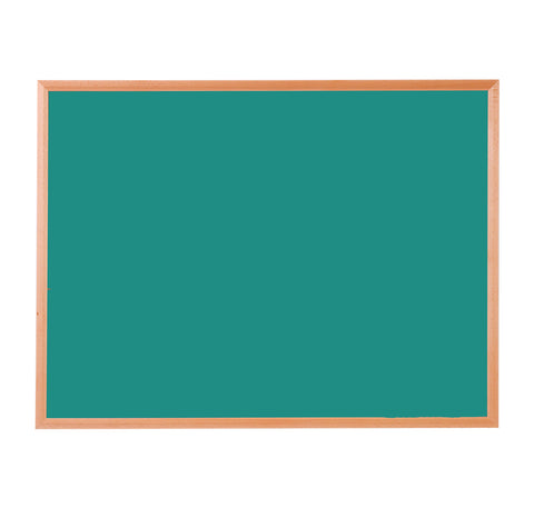 Hardwood Framed Sundeala Noticeboard in Oak (Green)