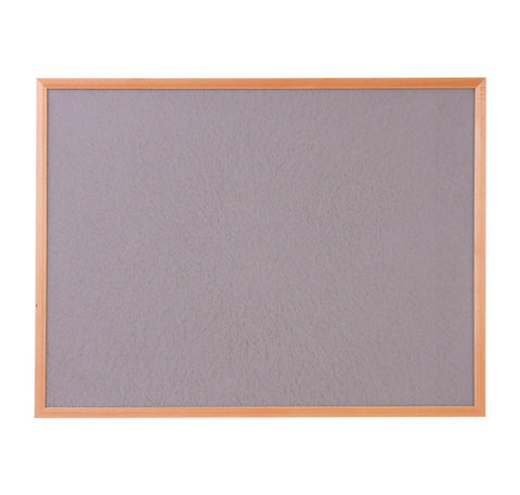 Hardwood Framed Sundeala Noticeboard in Oak (Grey)