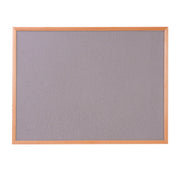 Hardwood Framed Sundeala Noticeboard in Beech (Grey)