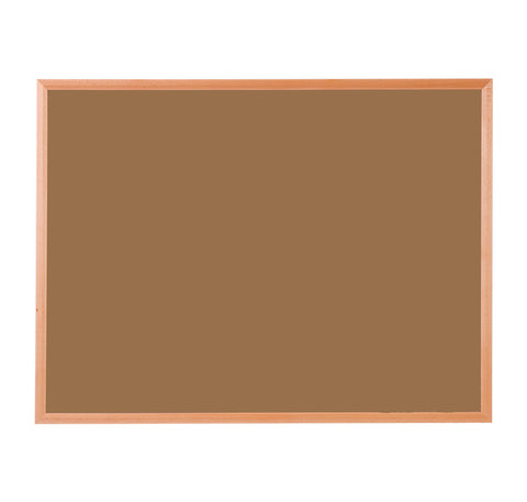 Hardwood Framed Sundeala Noticeboard in Beech (Orange)