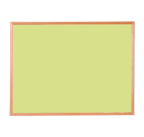Hardwood Framed Sundeala Noticeboard in Beech (Yellow)