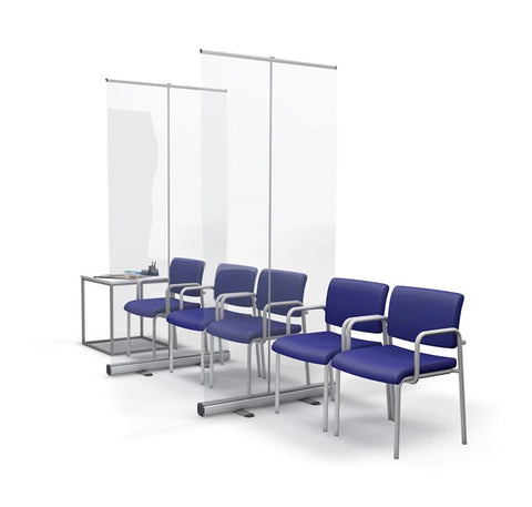 Roller Banner Clear Protective Screen Divider - Waiting Room