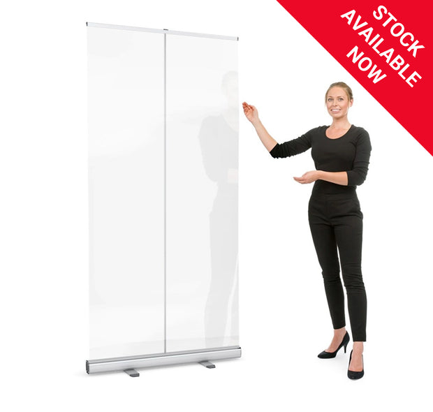 Roller Banner Clear Protective Screen Divider
