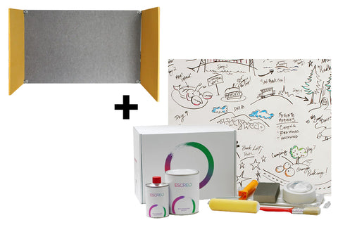 Acoustic Desk Divider & Whiteboard Paint (3m²)