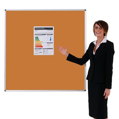 Aluminium framed Sundeala Noticeboard (Orange)