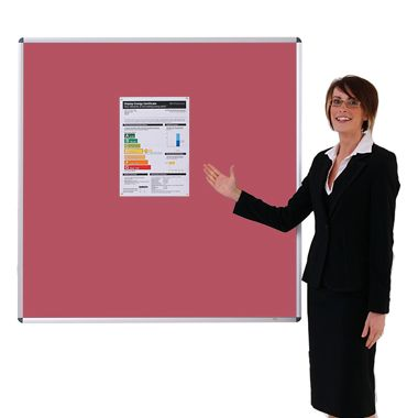 Aluminium framed Sundeala Noticeboard (Red)