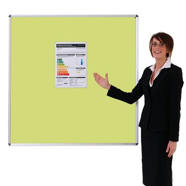 Aluminium framed Sundeala Noticeboard (Yellow)