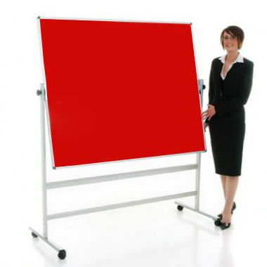 Felt Revolving Noticeboard (Red)