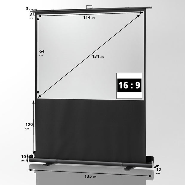 "Celexon Mobile Professional Plus Pull Up Screen (16:9) 1.1m 52"" - Size"