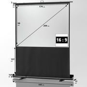 "Celexon Mobile Professional Plus Pull Up Screen (16:9) 1.8m 79"" - Size"