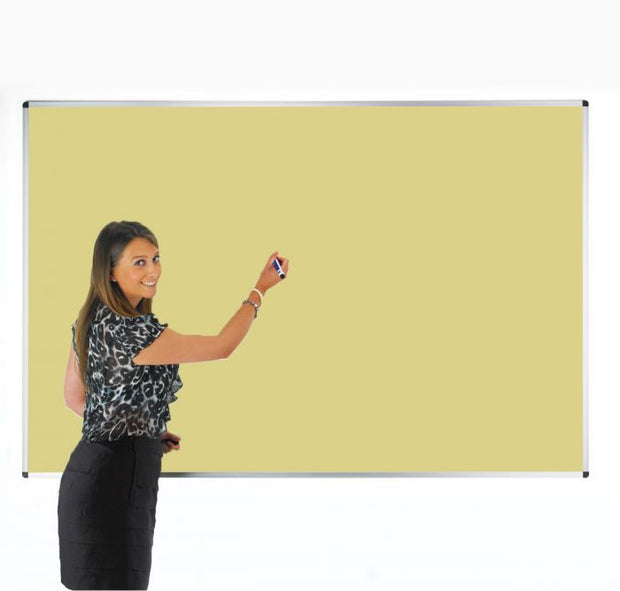 Colourwipe Dry Erase Whiteboard Pastel Yellow