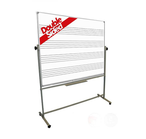 Freestanding Magnetic Music Stave Whiteboard Double Sided