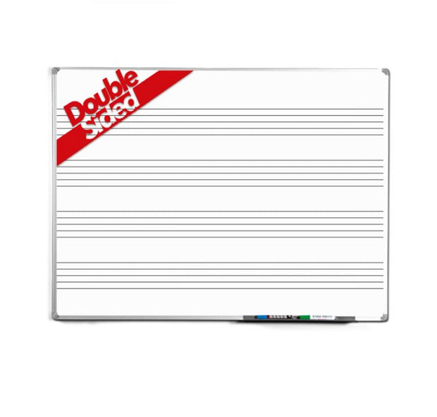 Aluminium Framed Magnetic Music Stave Whiteboard Double Sided