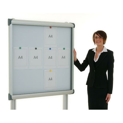 External Pole Mounted Showcase Whiteboard
