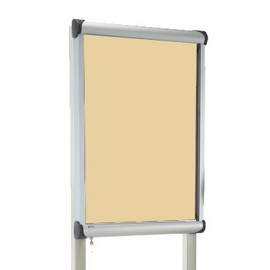 External Pole Mounted Showcase Beige