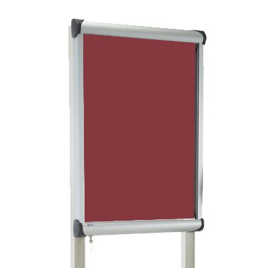 External Pole Mounted Showcase Burgundy