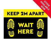 Rectangular Floor Sticker - Choice of 4 Available Now