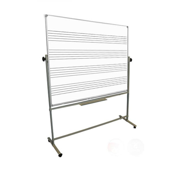 Freestanding Magnetic Music Stave Whiteboard Single Sided