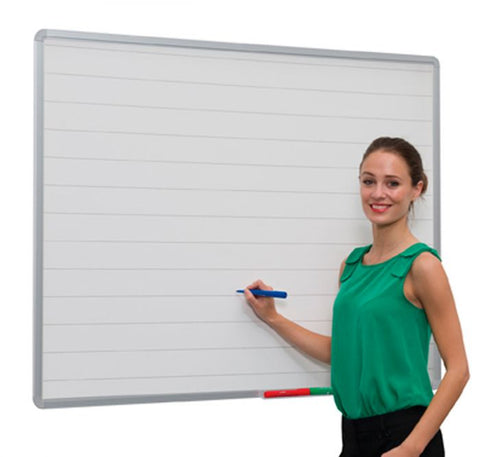 Aluminium Framed Non Magnetic Lined Whiteboard