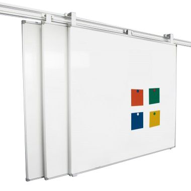 Magirail Magnetic Whiteboard Coated Steel