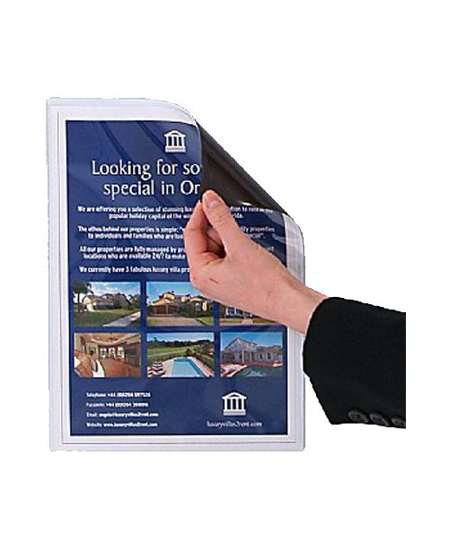 Magnetic Leaflet Holder back