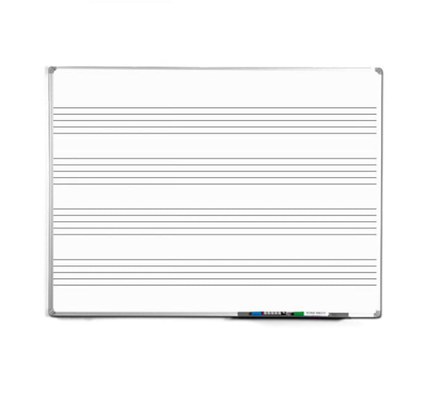 Aluminium Framed Magnetic Music Stave Whiteboard Single Sided