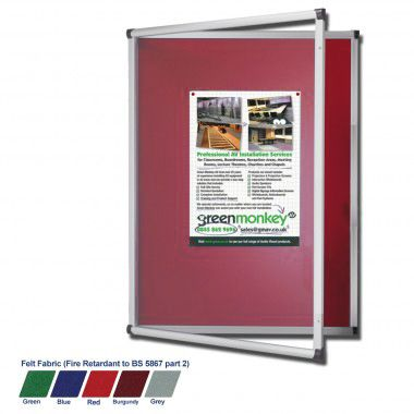 Metropolitan Tamperproof Noticeboard (Red)