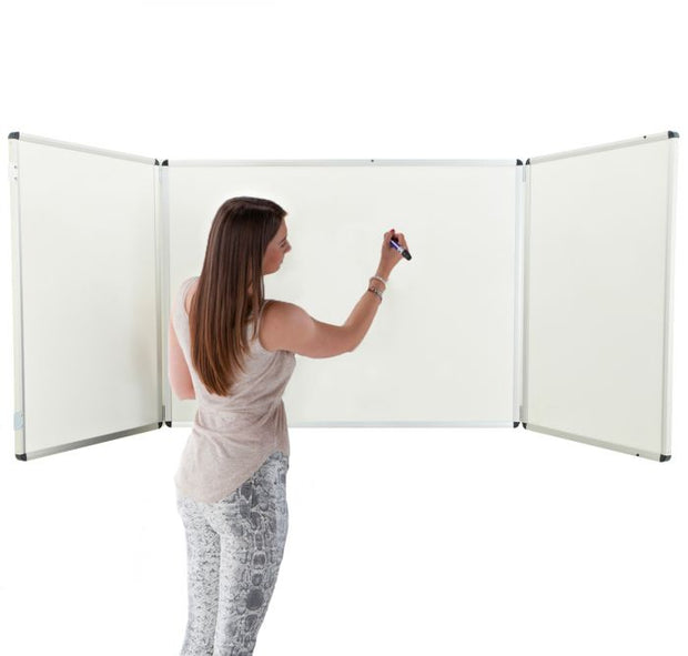 Winged Whiteboard 1800x1200mm non magnetic