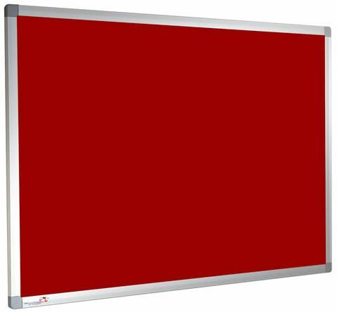 Custom Sized Felt Noticeboard Unframed Cherry