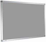 Custom Sized Felt Noticeboard Unframed Silver